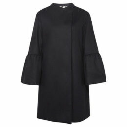 French Connection  Cashmere coat with long sleeves  women's Coat in Black