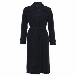 French Connection  Long sleeves plain jacket  women's Trench Coat in Blue