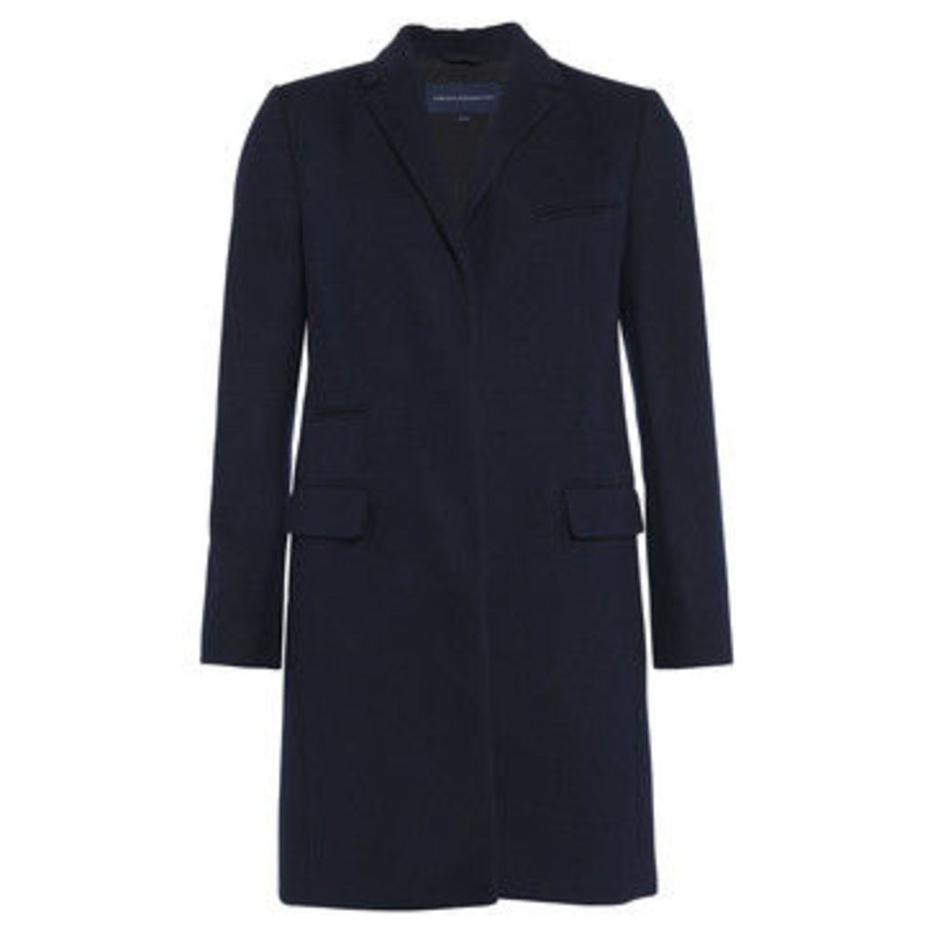 French Connection  Coat with long-sleeved collar  women's Coat in Blue