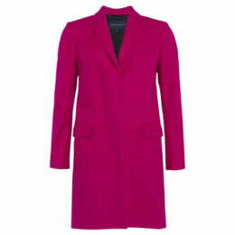 French Connection  Coat with long-sleeved collar  women's Coat in Pink