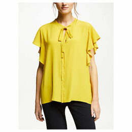 Marella Frill Sleeve Top, Yellow