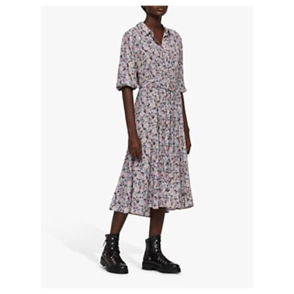 AllSaints Chiara Sketch Shirt Dress, Violet