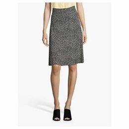 Betty Barclay Paint Dot Print A-Line Skirt, Dark Blue/Cream