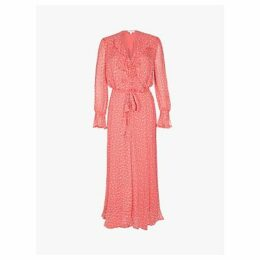 Ghost Su Star Print Dress, Coral
