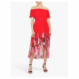 Ted Baker Gillyy Bardot Floral Dress, Red
