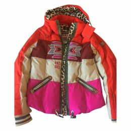 Pink Polyester Coat