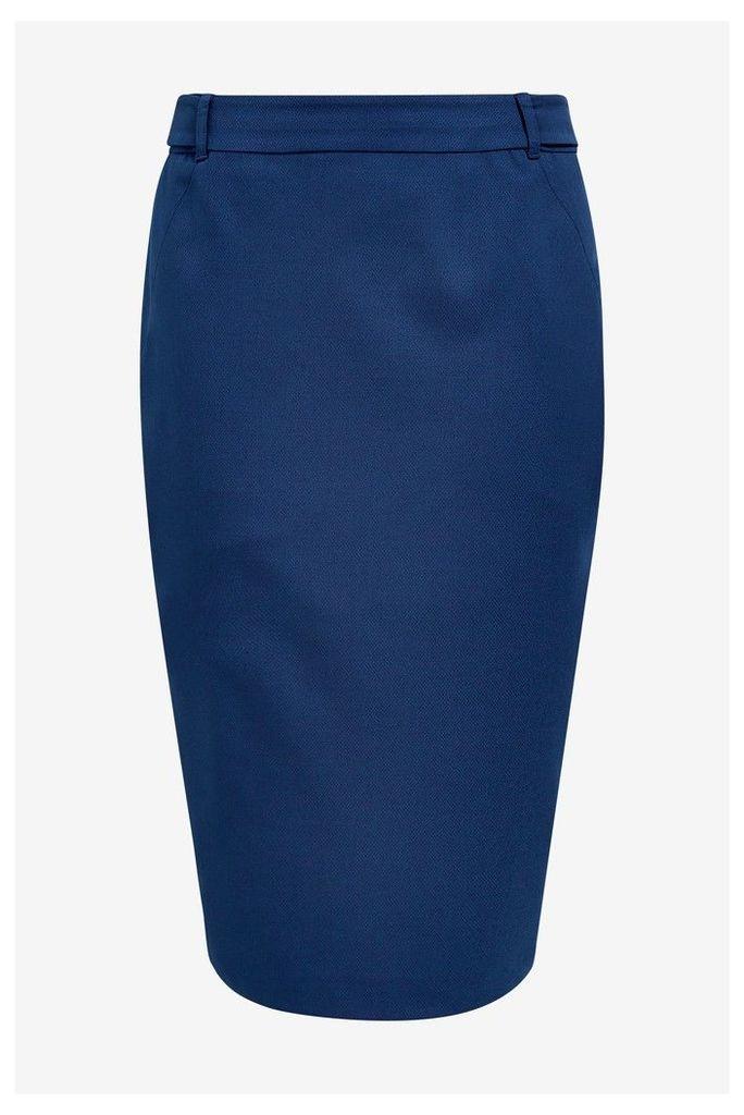 Womens Next Blue Tailored Fit Pencil Skirt -  Blue