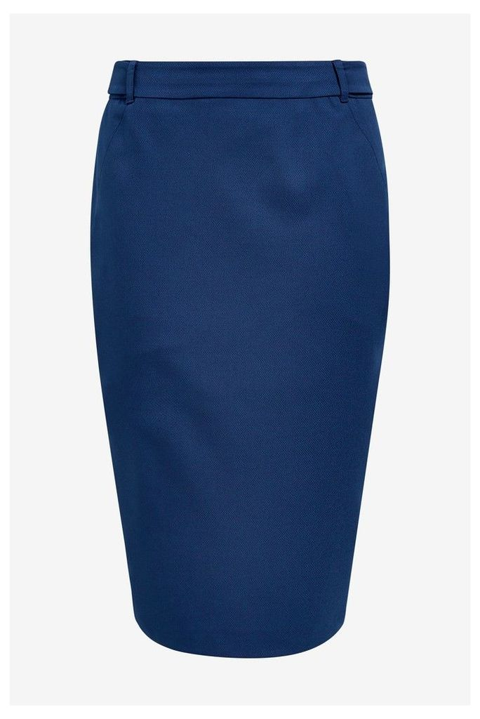 Womens Next Blue Tailored Fit Pencil Skirt -  Blue