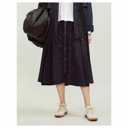 Onesto cotton-poplin midi skirt