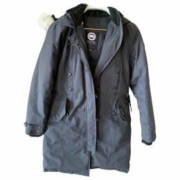 Navy Cotton Coat Kensington