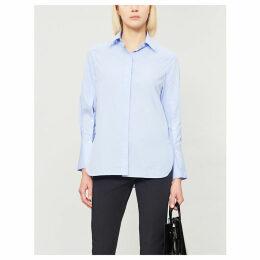 Mason split buttoned sleeve cotton blouse