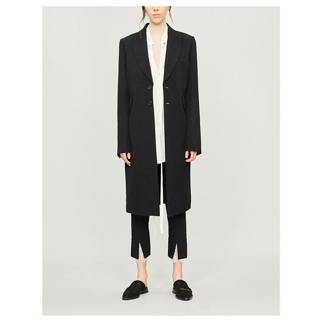 Wool and cotton blend coat