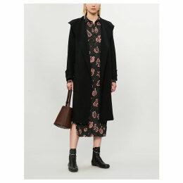Lista wool-blend wrap coat