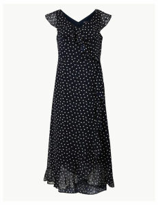 M&S Collection Polka Dot Wrap Midi Dress
