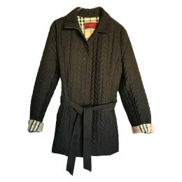 Black Polyester Coat