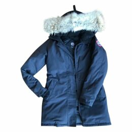 Navy Polyester Coat Victoria