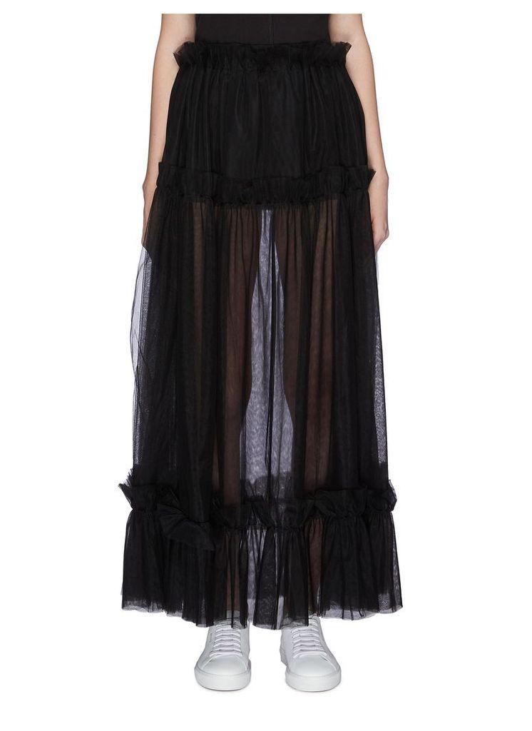 Tiered mesh skirt