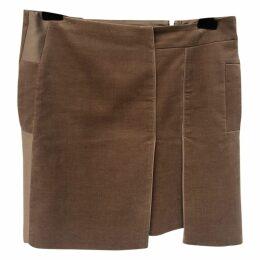 Velvet mid-length skirt
