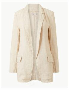 Per Una Pure Linen Open Front Blazer