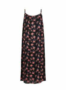 Black Crinkle Maxi Dress, Black