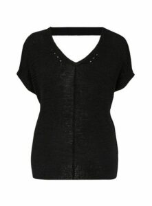 Black Short Sleeve Jumper, Black