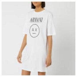 Armani Exchange Women's Logo T-Shirt Dress - White