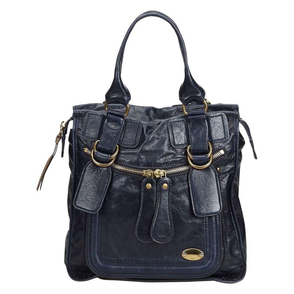Bay leather handbag