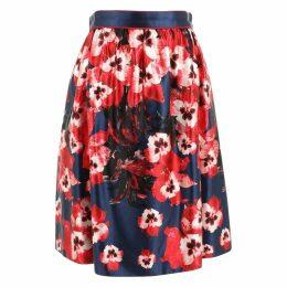 Silk mid-length skirt