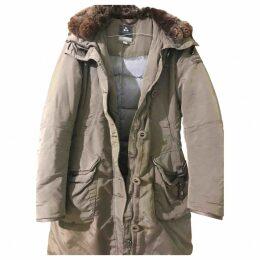 Beige Polyester Coat