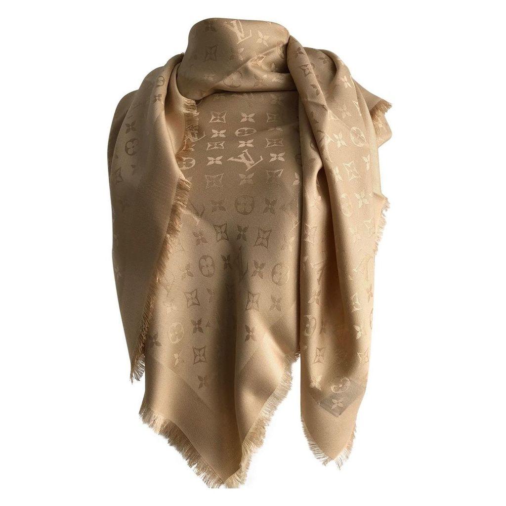 Châle Monogram silk scarf