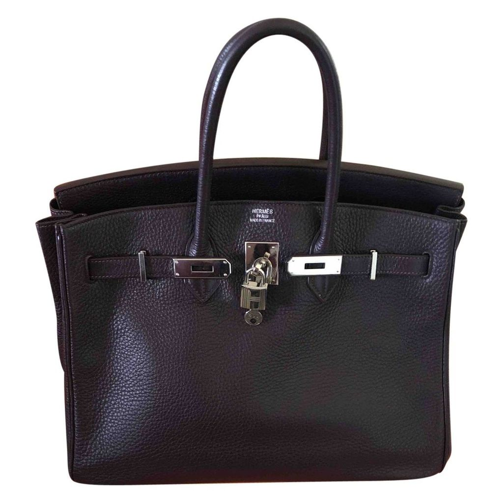 Birkin 35 leather handbag