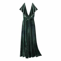 Velvet mid-length dress