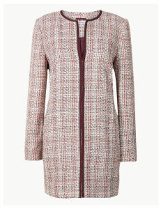 M&S Collection Textured Tweed Coat