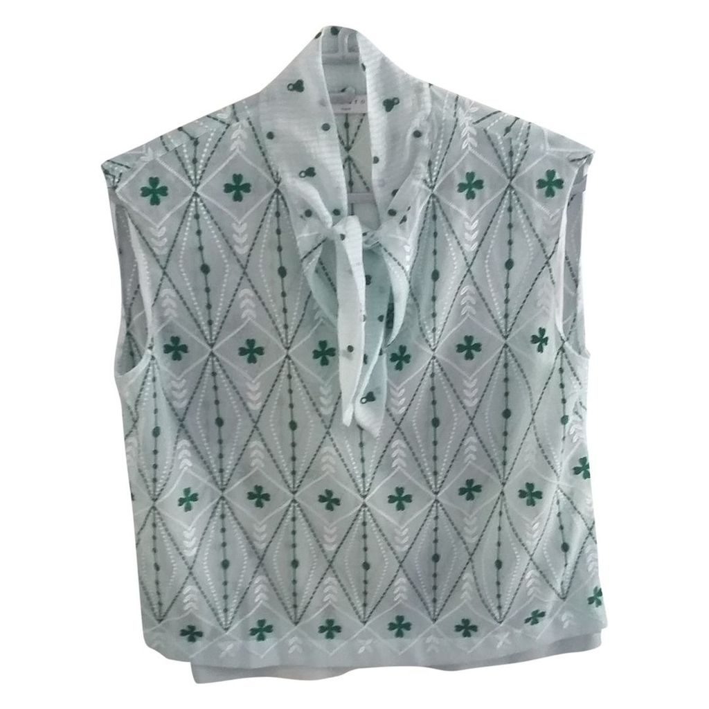 Green Polyester Top