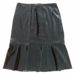 Velvet mid-length skirt