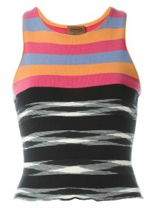 Missoni Pre-Owned striped tank top - Black - White - Orange - Fuxia -