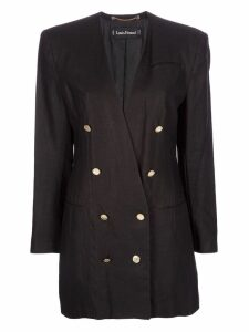 Louis Feraud Pre-Owned double breasted jacket - Black