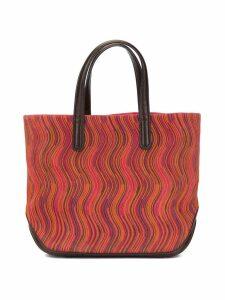 Hermès Pre-Owned Vibrato print Canoe tote - Multicolour