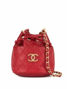 Chanel Pre-Owned Cosmos quilted bucket bag - Red