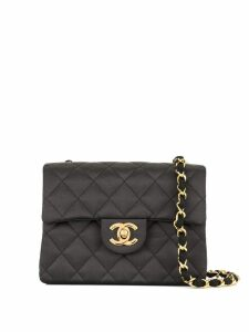 Chanel Pre-Owned CC logo quilted shoulder bag - Black