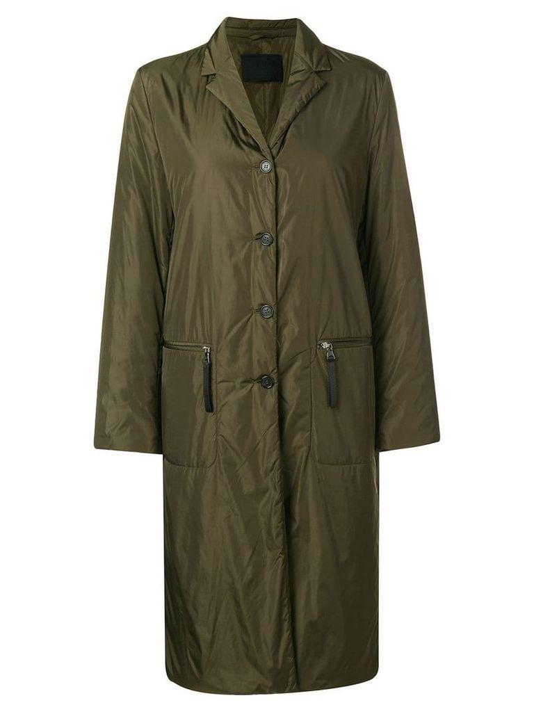 PRADA PRE-OWNED single breasted padded coat - Green