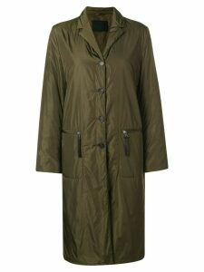 PRADA PRE-OWNED single breasted padded coat - Green