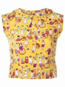 Chanel Pre-Owned printed cropped top - Yellow