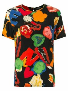Chanel Pre-Owned graphic print top - Black