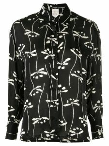 Chanel Pre-Owned dragonfly print shirt - Black