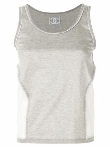 Chanel Pre-Owned mesh panels tank top - Grey