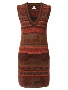 Hermès Pre-Owned 1998-2004 sleeveless knitted dress - Brown