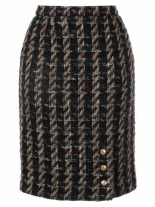 Chanel Pre-Owned tweed pencil skirt - Black
