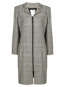 YVES SAINT LAURENT PRE-OWNED 1980's houndstooth coat - Black