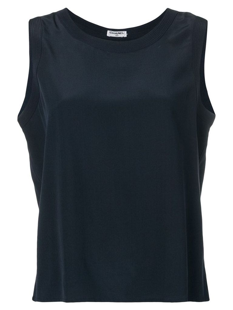 Chanel Vintage 2000's plain top - Blue